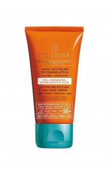Crema Viso Solare Protezione Attiva SPF50+ Crema Solare Collistar