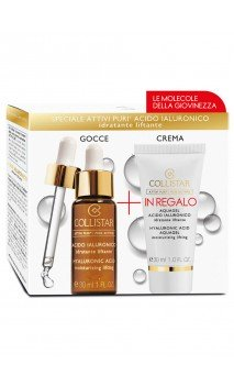 Kit Attivi Puri Acido Ialuronico + Crema Gel Cofanetto Trattamento Viso Collistar