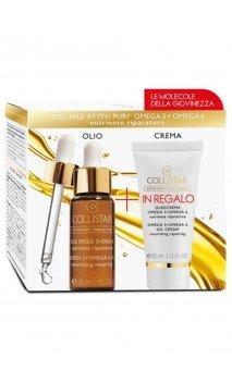 Kit Ativi Puri Olio Omega3+6 + Oleo Crema Cofanetto Trattamento Viso Collistar