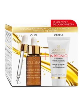 Kit Attivi Puri Olio Omega3+6 + Oleo Crema Cofanetto Trattamento Viso Collistar