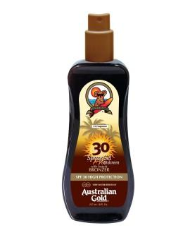 SPF 30 Spray Gel Bronzer Crema-Gel Solare Australian Gold