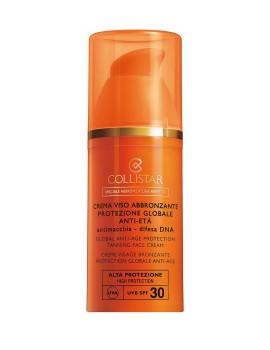 Crema Viso Abbronzante Protezione Globale Anti-Eta' SPF 30 Crema Solare Collistar