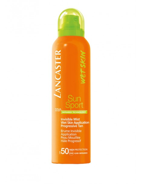 Sun Sport Invisible Mist Wet Skin Application SPF 50 Spray Solare Lancaster