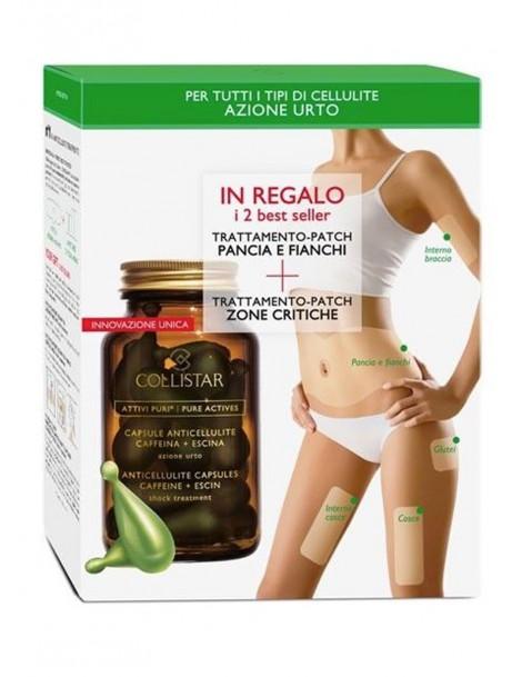 Kit ATTIVI PURI® Capsule Anticellulite Caffeina + Escina Cofanetto Trattamento Corpo Collistar