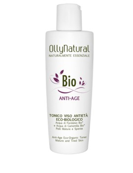 BIO ANTI-AGE Tonico Viso Anti-Età Eco-Biologico Olly Natural