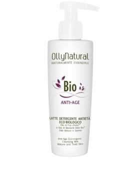 BIO ANTI-AGE Latte Detergente Viso Anti-Età Eco-Biologico Olly Natural