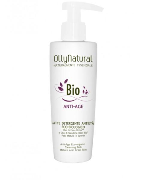 BIO ANTI-AGE Latte Detergente Viso Anti-Età Eco-Biologico Olly Natural