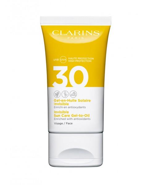 Gel-Olio Solare Invisibile Viso UVA/UVB SPF 30 Clarins