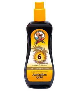 SPF 6 Spray Oil con olio di carota Protezione Solare Australian Gold