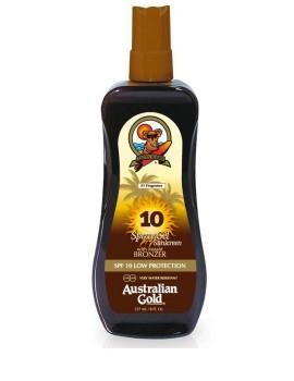 Spray Gel with Instant Bronzer SPF10 Protezione Solare Australian Gold